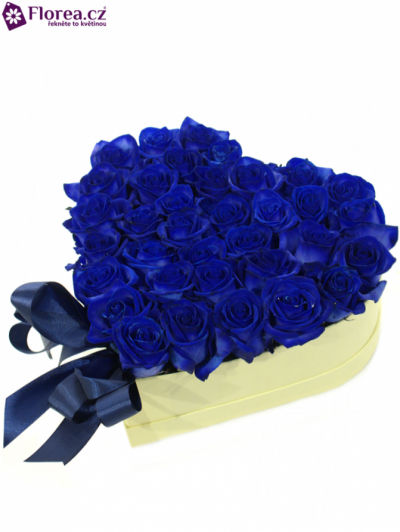 Krabička růží srdce šampaň ERMA  Ø26v9cm