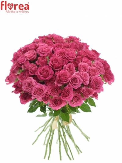 Kytice 100+ květů růží LIANNE 50cm