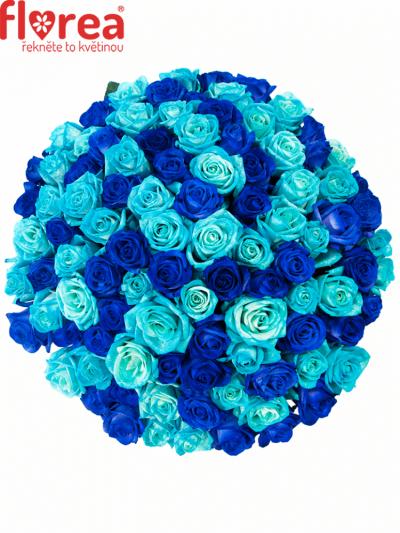 Kytice 100 míchaná BLUE ADRIANA 60cm