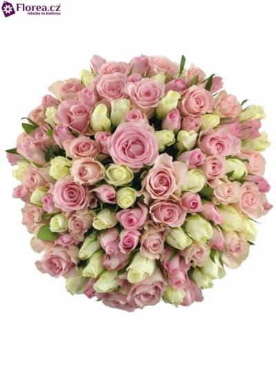 Kytice 100 míchaných růží DENAE 40cm