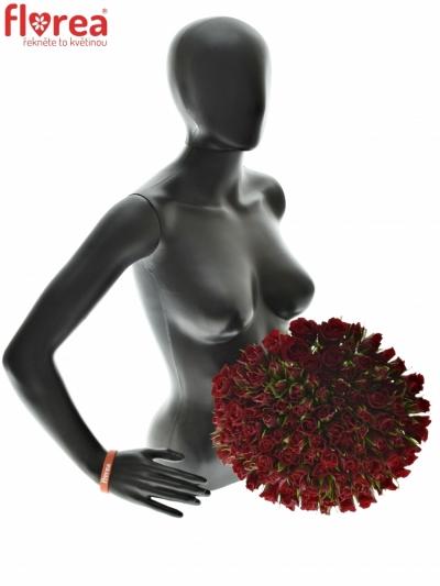 Kytice 100 rudých růží RED TIFFANY