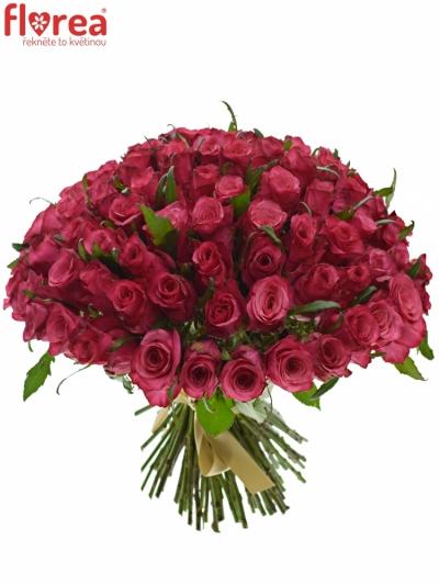Kytice 100 růžových růží NATURES WILD 40cm