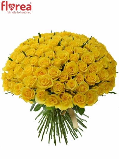 Kytice 100 žlutých růží JACKPOT