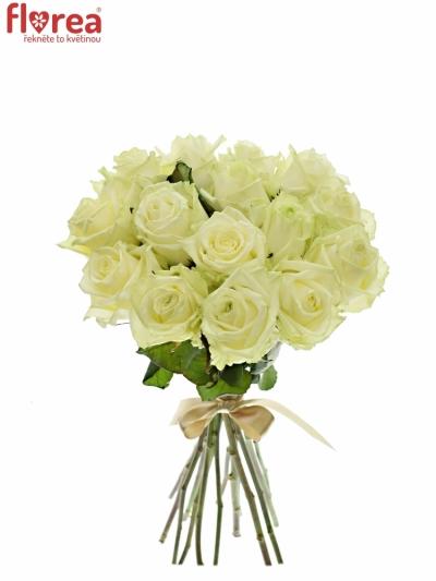 Kytice 15 bílých růží WHITE NAOMI