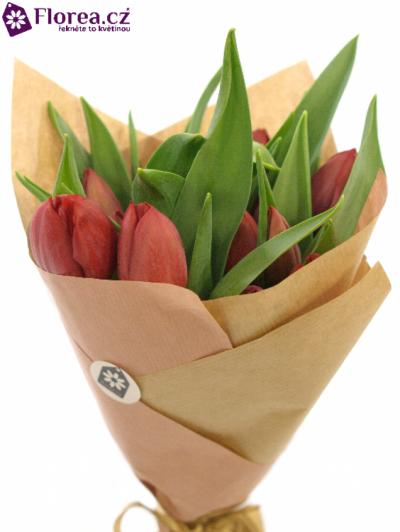 Kytice 15 červených tulipánů PALLADA 30cm-papír