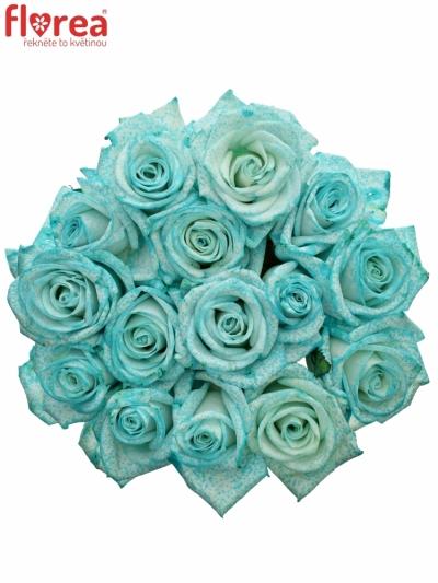 Kytice 15 ledově modrých růží ICE BLUE VENDELA