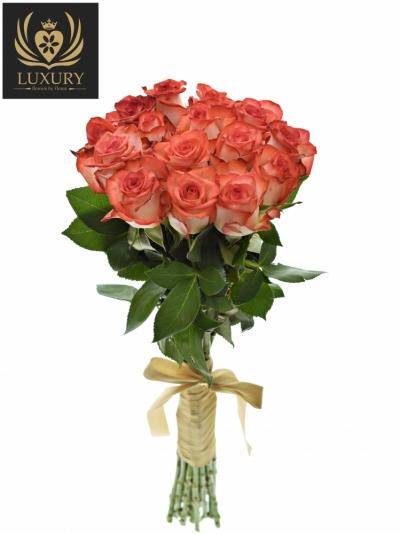 Kytice 15 luxusních růží BLUSH 70cm