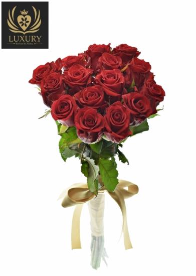 Kytice 15 luxusních růží RED EAGLE 60cm