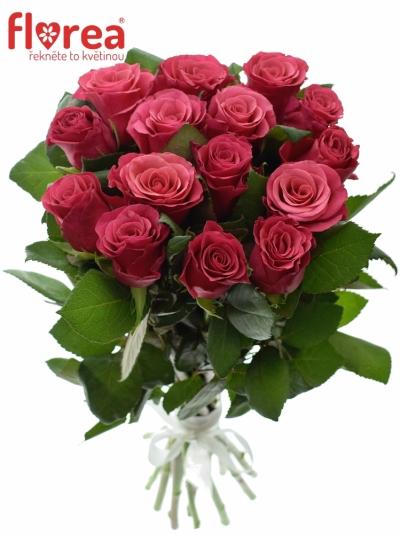 Kytice 15 malinových růží TACAZZI 50cm