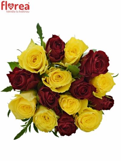 Kytice 15 míchaných růží ANATOLA 40cm