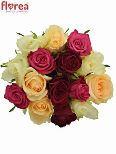 Kytice 15 míchaných růží AMALGITH 40cm