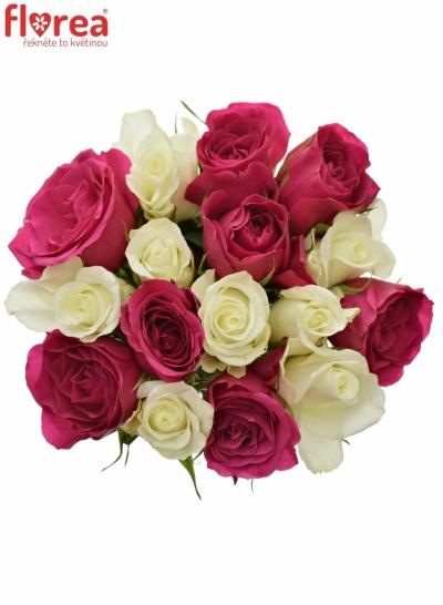 Kytice 15 míchaných růží CRONUS 40cm