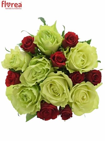 Kytice 15 míchaných růží GRAZYNA 35cm