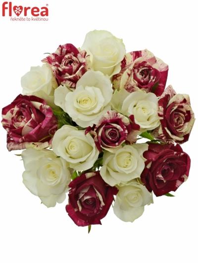 Kytice 15 míchaných růží HARLESPEN