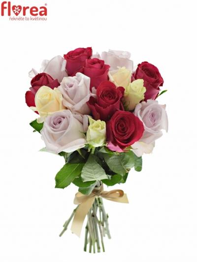 Kytice 15 míchaných růží LORRIESS
