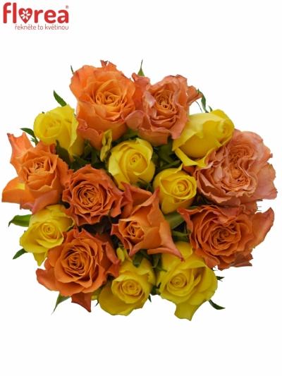 Kytice 15 míchaných růží MARYWALK 50cm