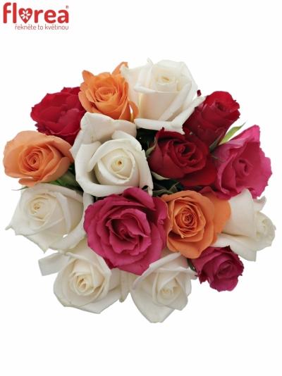 Kytice 15 míchaných růží SEVASTIANOS 40cm