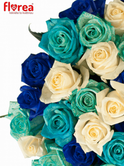 Kytice 15 modrých růží ALDARA
