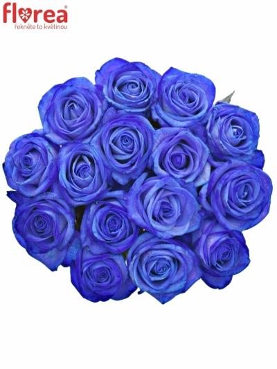Kytice 15 modrých růží BLUE VENDELA 80cm
