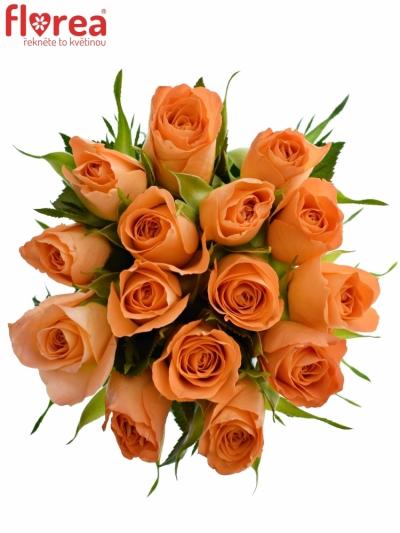 Kytice 15 oranžových růží CHELSEA 40cm