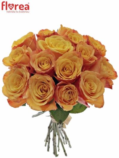 Kytice 15 oranžových růží CONFIDENTIAL 35cm