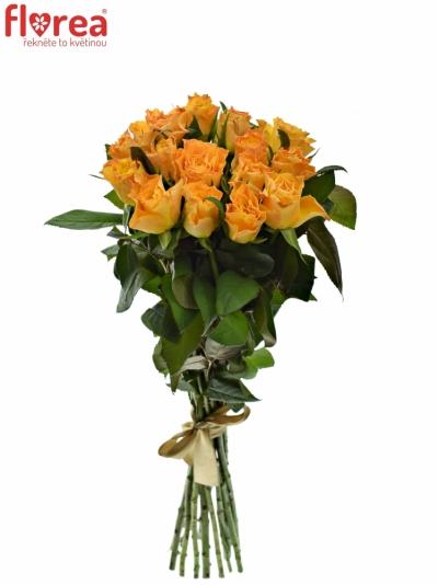 Kytice 15 oranžových růží MARIE-CLAIRE! 60cm
