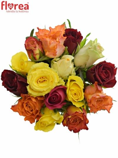 Kytice 15 růží MIX 40cm