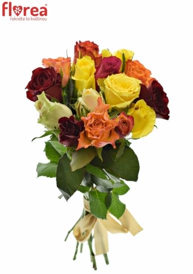 Kytice 15 růží MIX 60cm