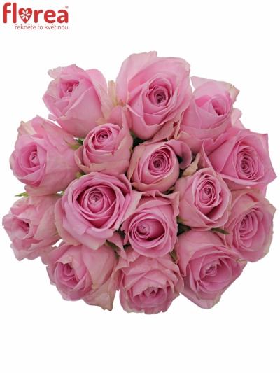 Kytice 15 růžových růží HEIDI!