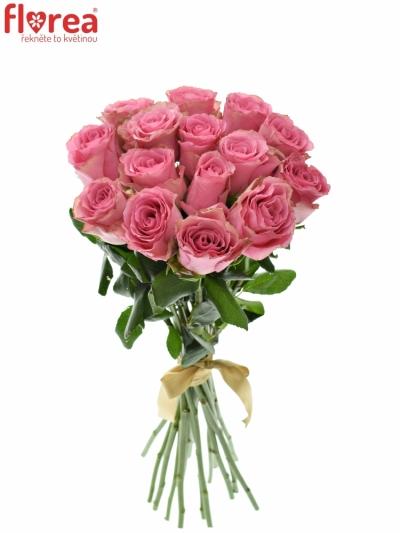 Kytice 15 růžových růží LOVELY RHODOS