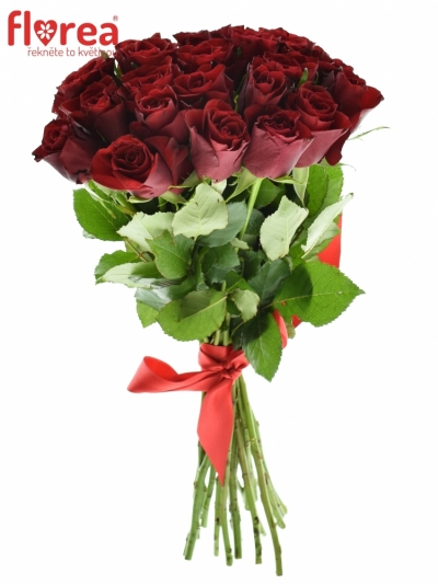 Kytice 21 červených růží PRESTIGE 35cm