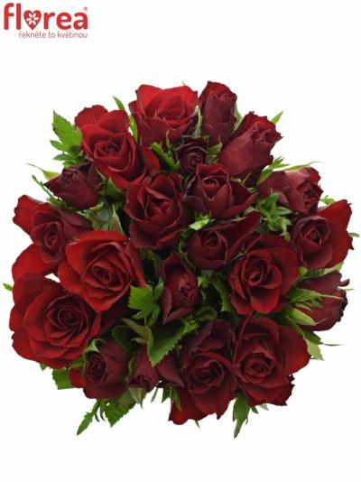Kytice 21 červených růží RHYTHM 50cm