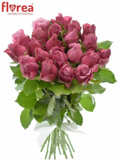 Kytice 21 fialových růží DEEP WATER 40cm