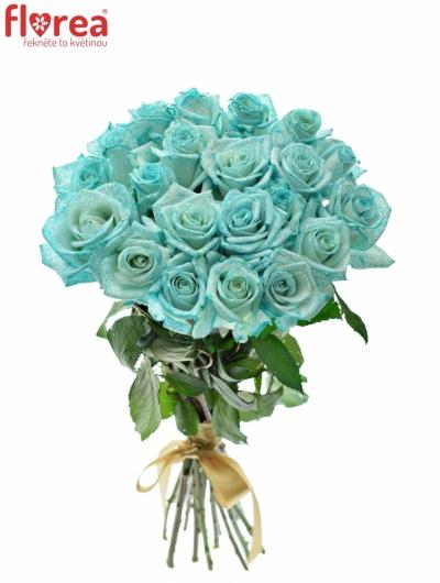 Kytice 21 ledově modrých růží ICE BLUE VENDELA