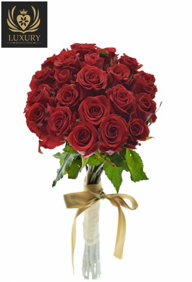 Kytice 21 luxusních růží RED EAGLE 80cm