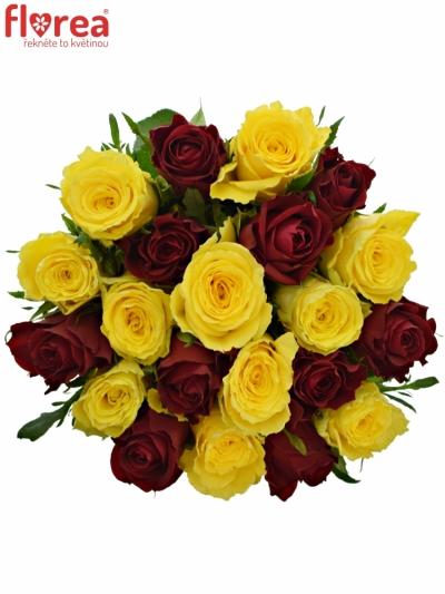 Kytice 21 míchaných růží ANATOLA 60cm