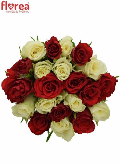 Kytice 21 míchaných růží AGATHA 50cm