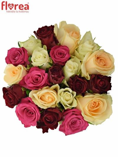Kytice 21 míchaných růží AMALGITH