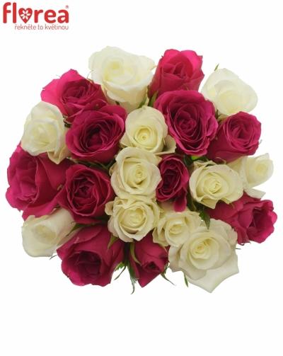 Kytice 21 míchaných růží CRONUS