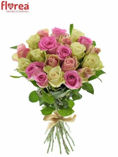 Kytice 21 míchaných růží FIOLA