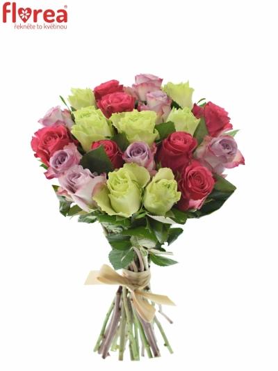Kytice 21 míchaných růží FRANCESCA 35cm