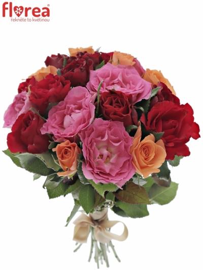 Kytice 21 míchaných růží KATRIEL 35cm
