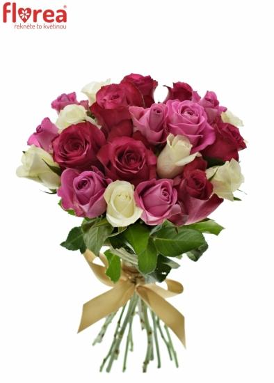 Kytice 21 míchaných růží PURPLE DANCE