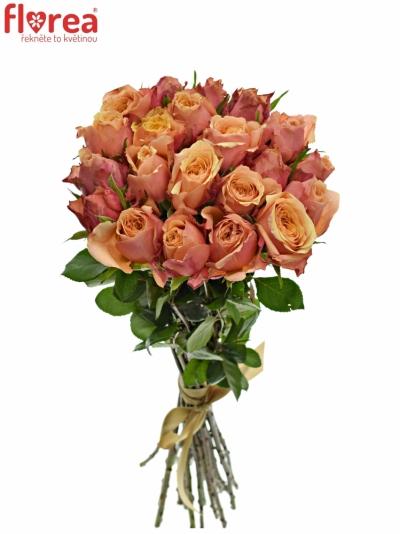 Kytice 21 oranžovočervených růží ALTAMODA 60cm