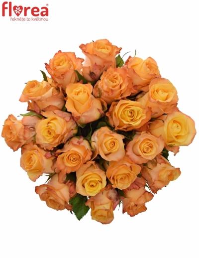 Kytice 21 oranžových růží MONALISA 50cm