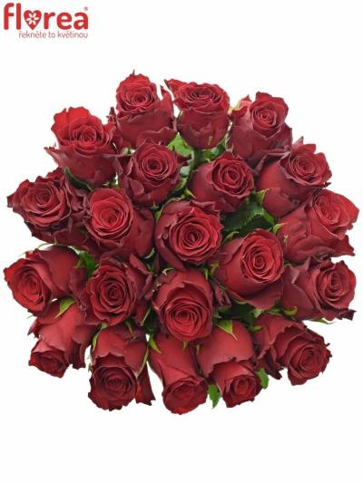 Kytice 21 rudých růží RHODOS 70cm