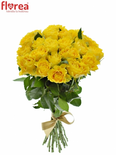 Kytice 21 žlutých růží VIVA