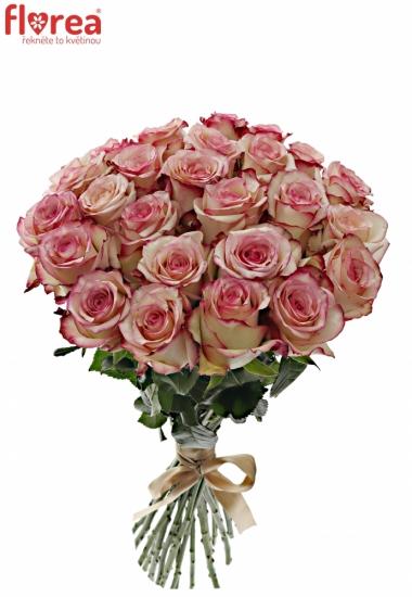 Kytice 25 bÍlorůžových růží TORMENTA