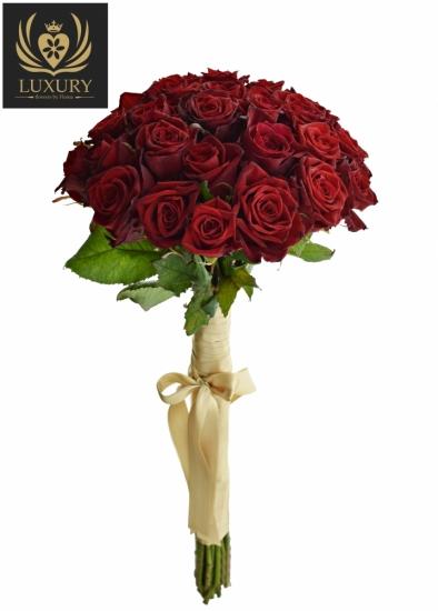 Kytice 25 luxusních růží TESTAROSSA 80cm