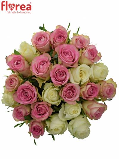 Kytice 25 míchaných růží AGAPA 40cm